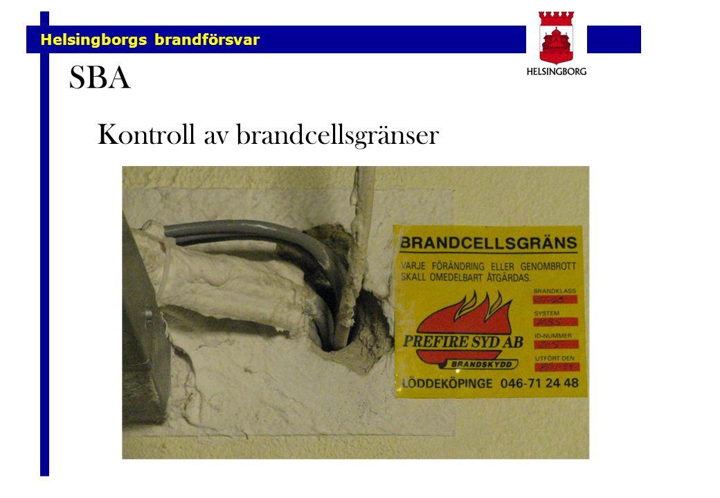 SBA Kontroll av brandcellsgränser