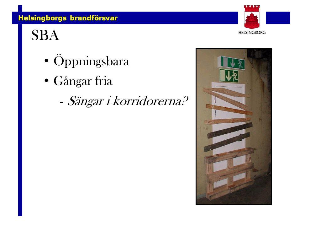 SBA Öppningsbara Gångar fria Sängar i korridorerna