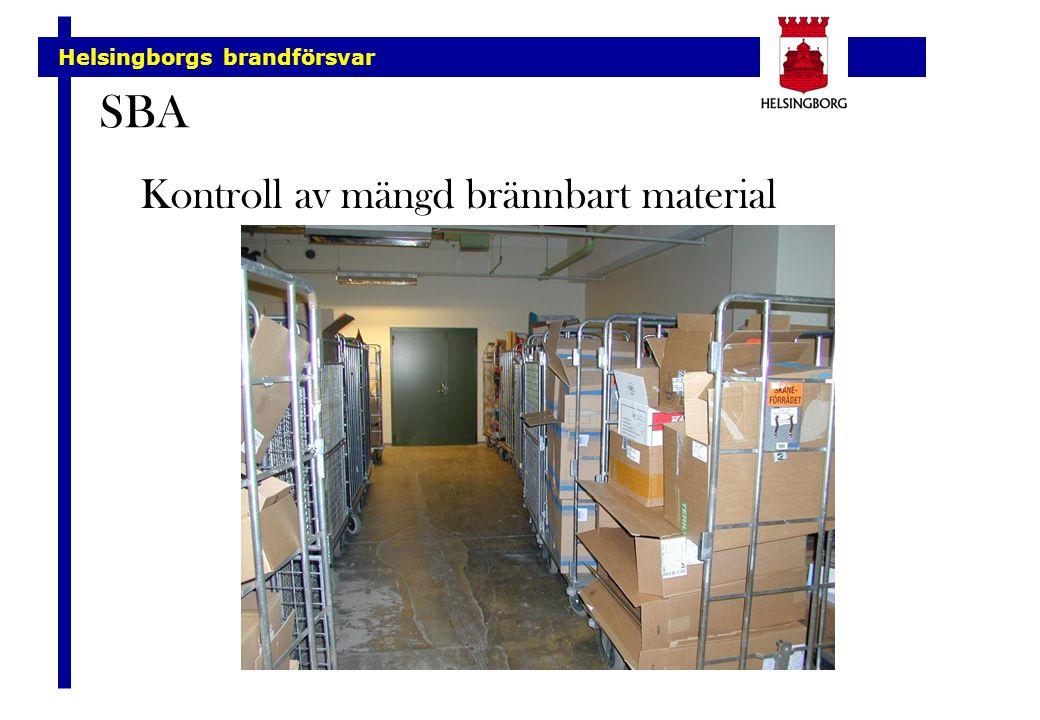 SBA Kontroll av mängd brännbart material