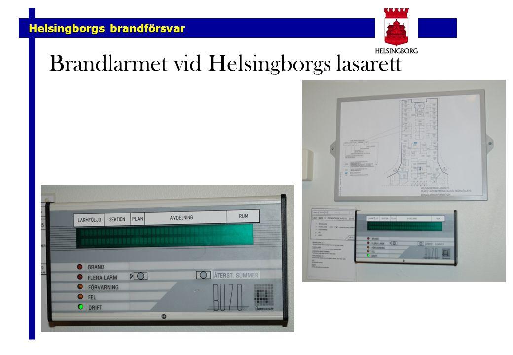 Brandlarmet vid Helsingborgs lasarett