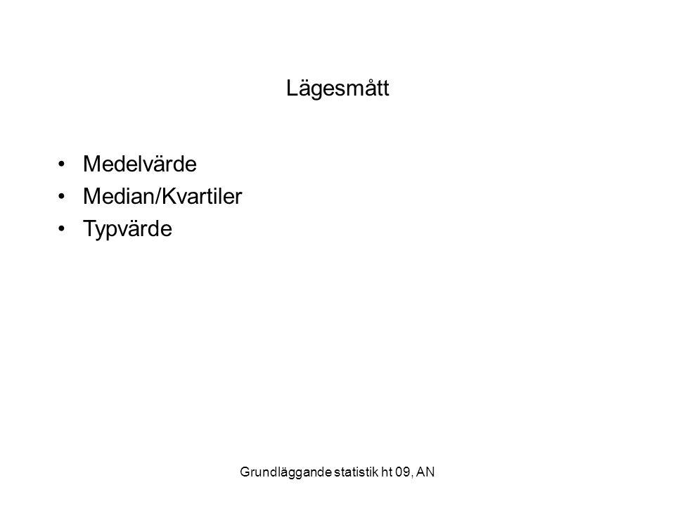 Grundläggande statistik ht 09, AN