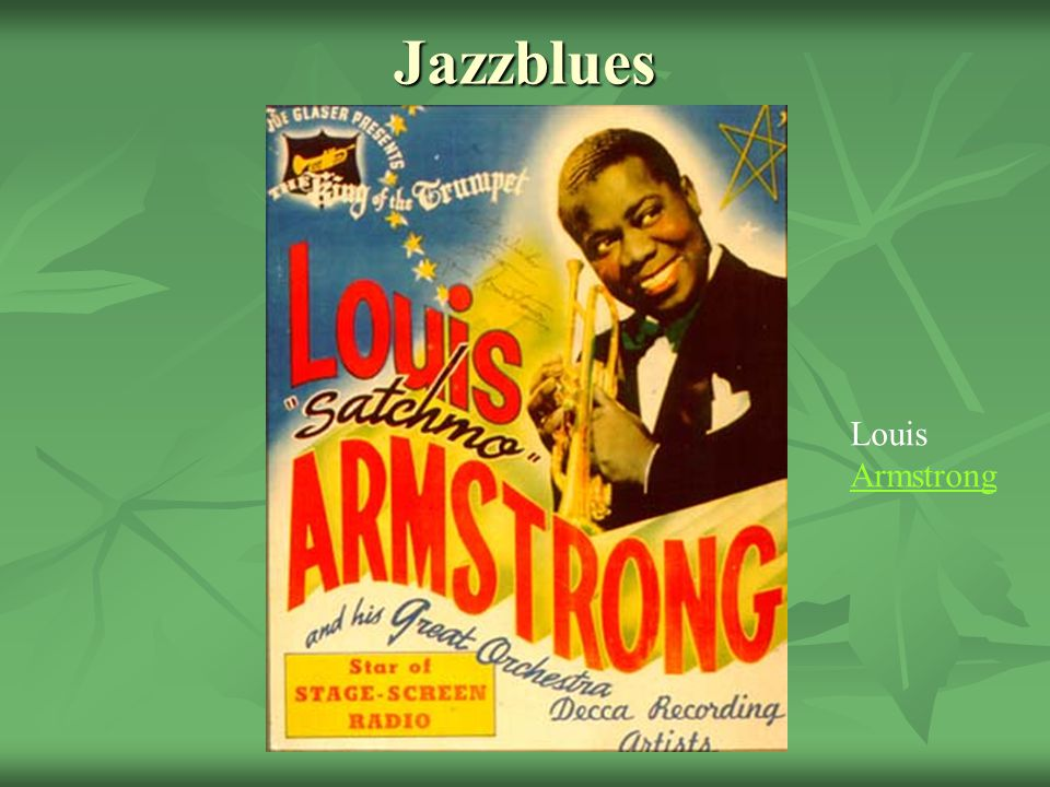 Jazzblues Louis Armstrong