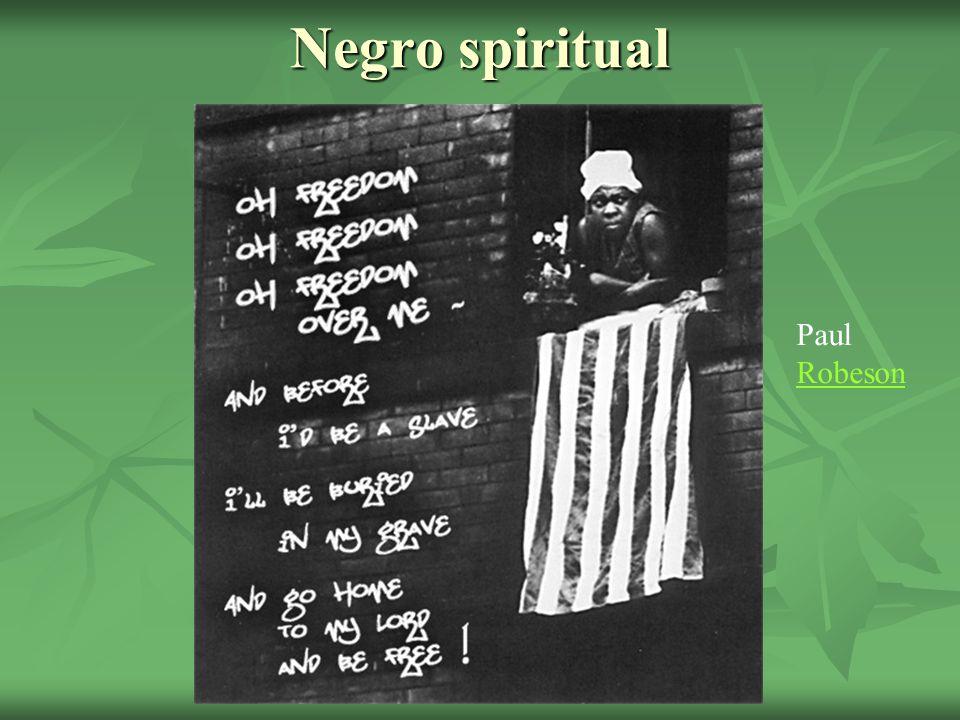 Negro spiritual Paul Robeson