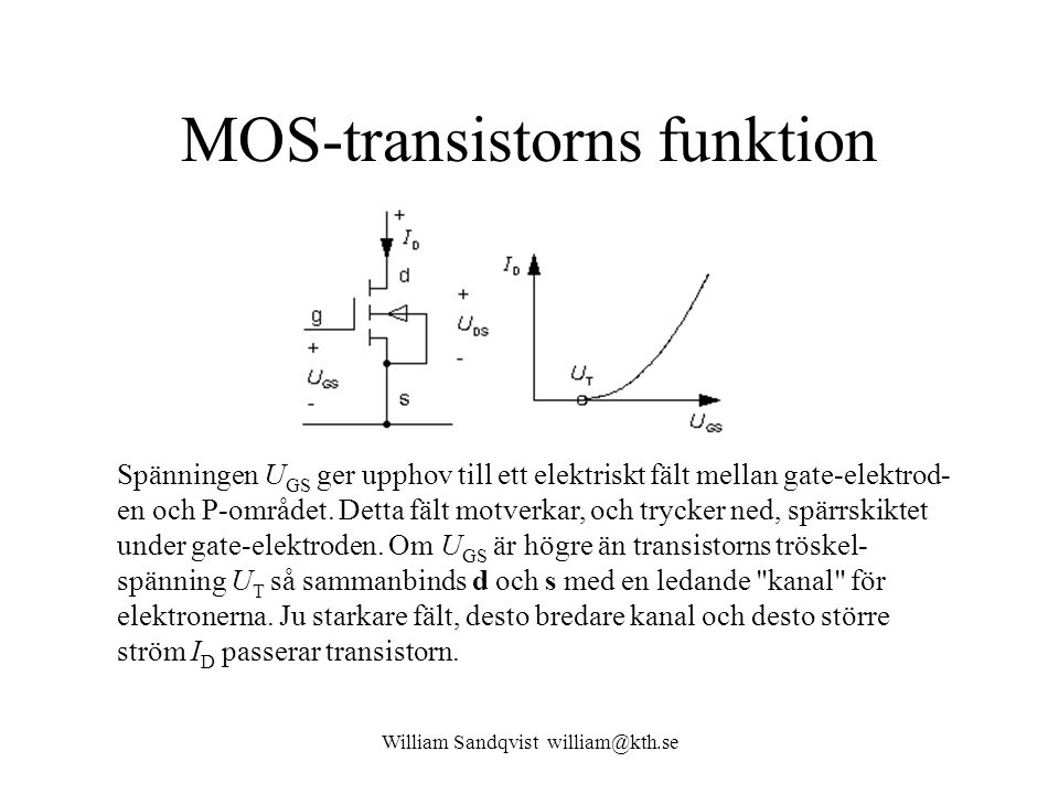 MOS-transistorns funktion