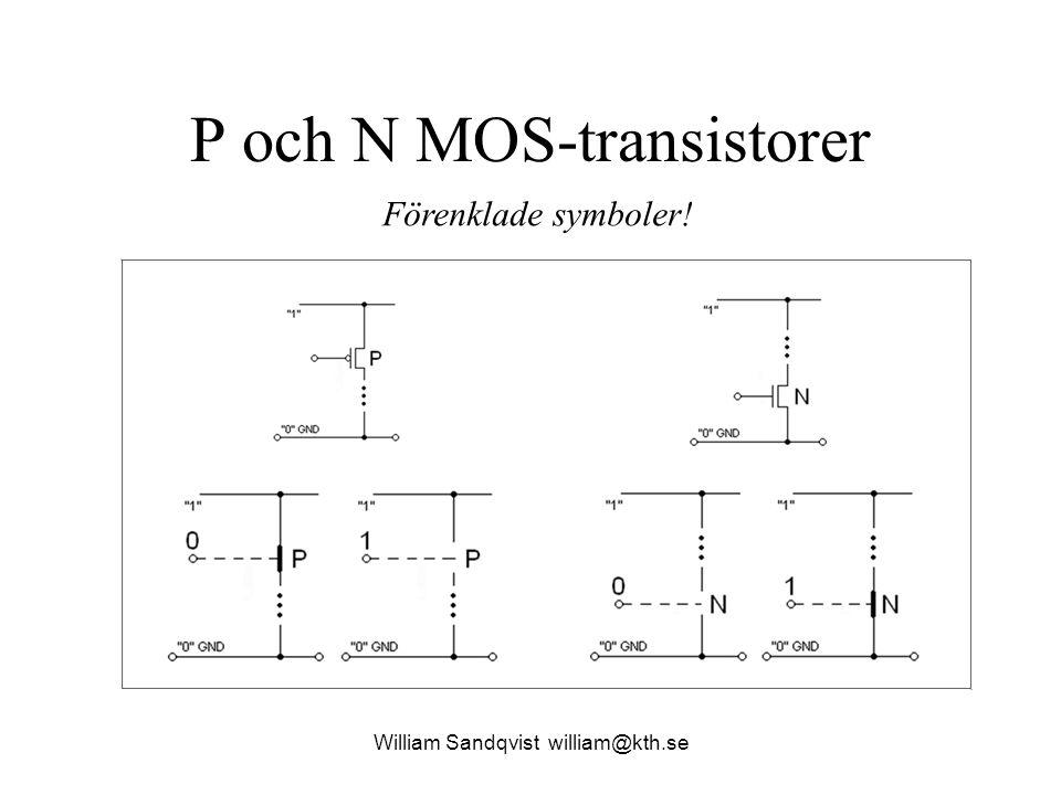 P och N MOS-transistorer