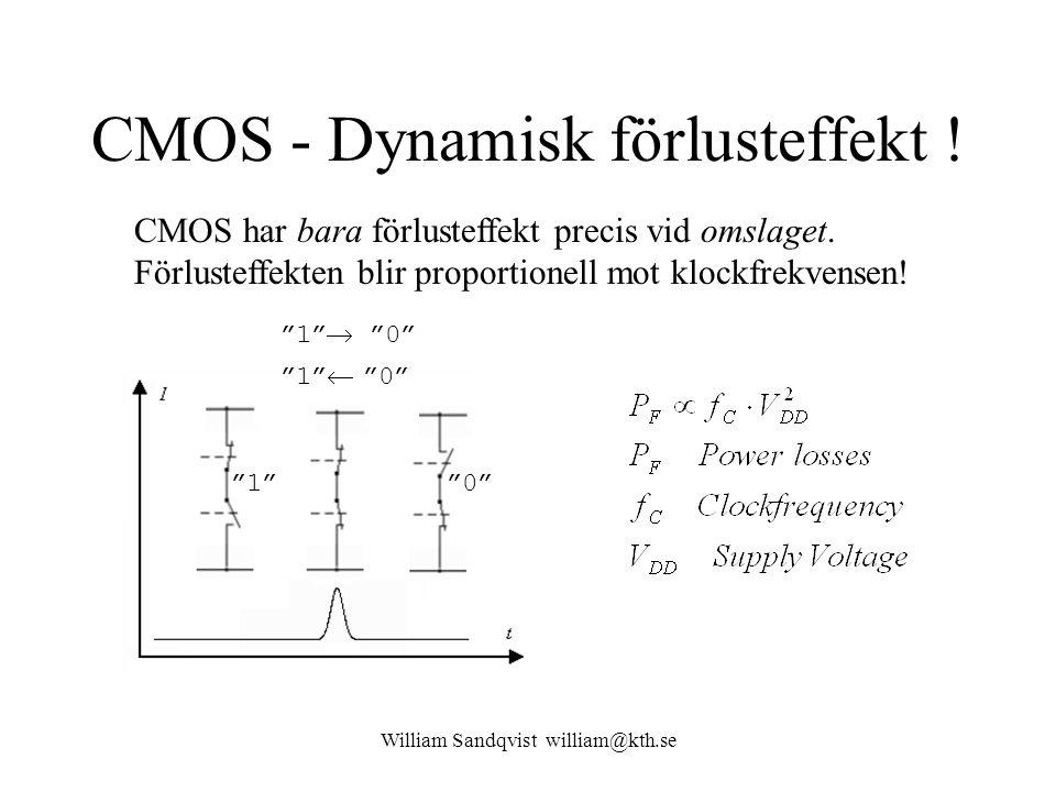 CMOS - Dynamisk förlusteffekt !