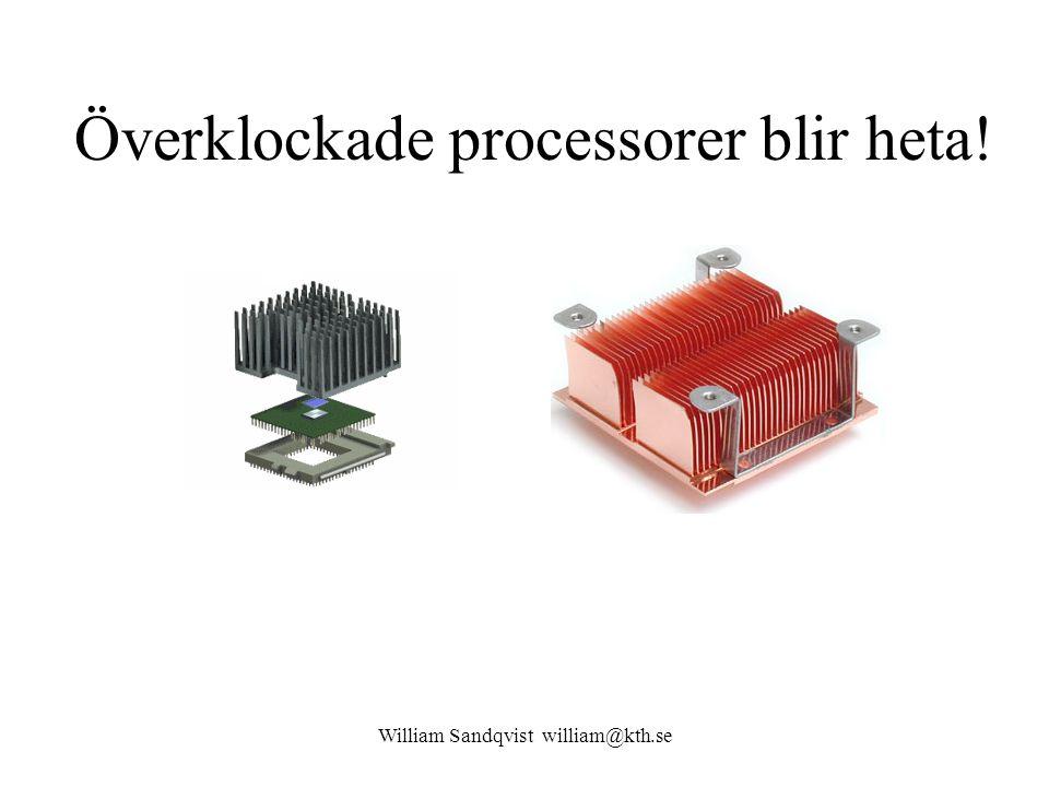 Överklockade processorer blir heta!