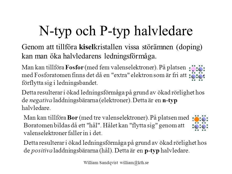 N-typ och P-typ halvledare