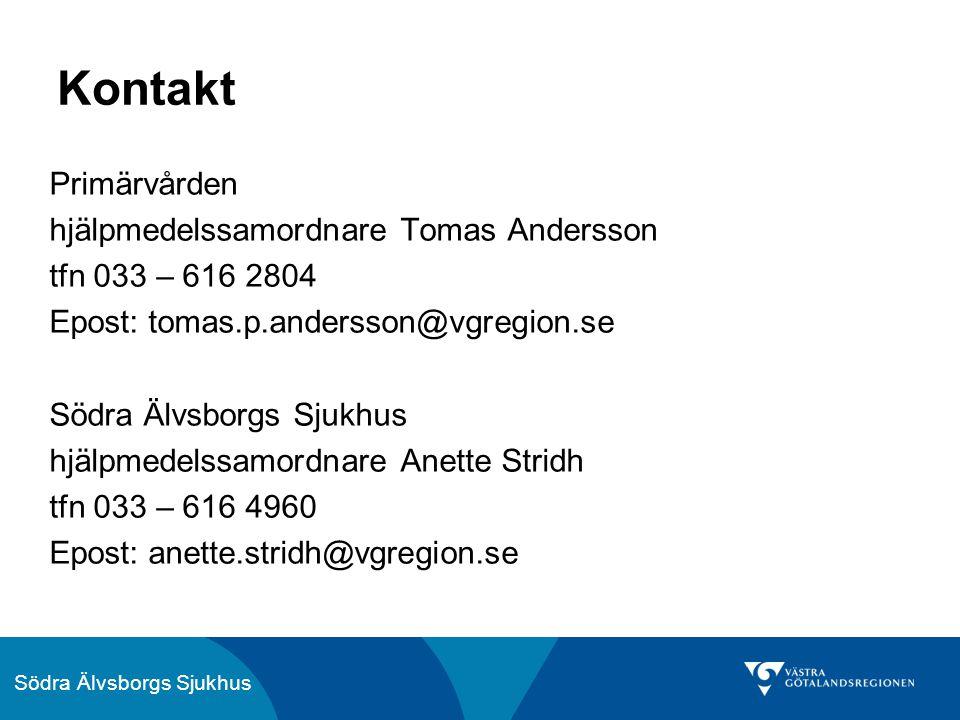 Kontakt Primärvården hjälpmedelssamordnare Tomas Andersson