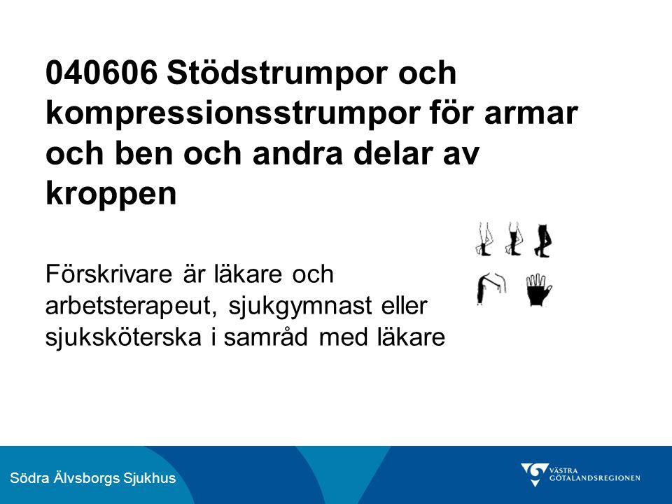 040606 Stödstrumpor och kompressionsstrumpor för armar och ben och andra delar av kroppen