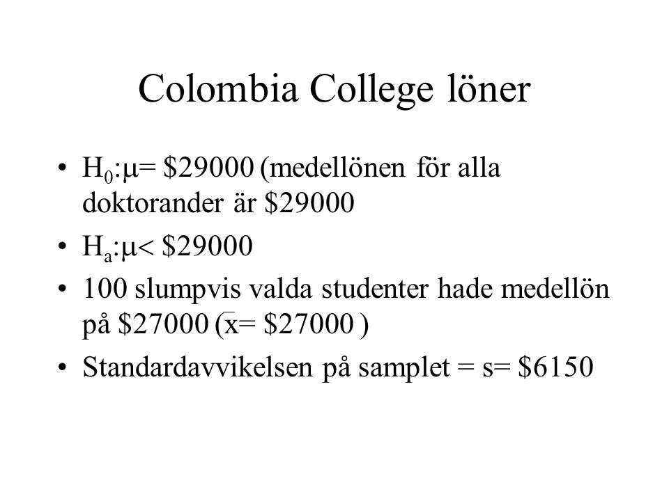 Colombia College löner