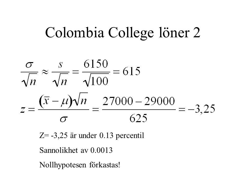 Colombia College löner 2