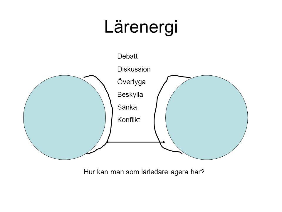 Lärenergi Debatt Diskussion Övertyga Beskylla Sänka Konflikt