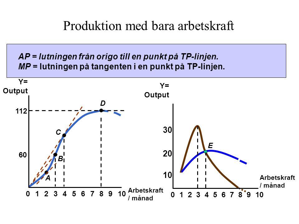 Produktion med bara arbetskraft