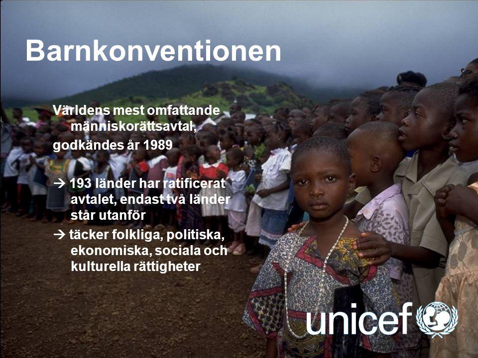 Barnkonventionen Världens mest omfattande människorättsavtal,