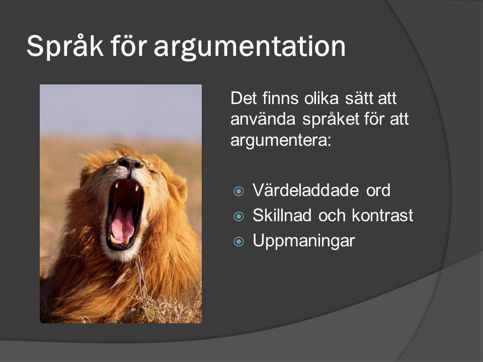 Språk för argumentation