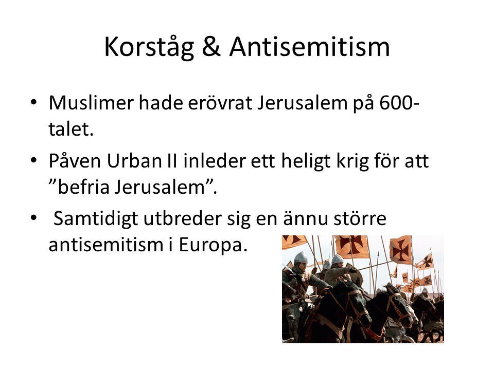 Korståg & Antisemitism