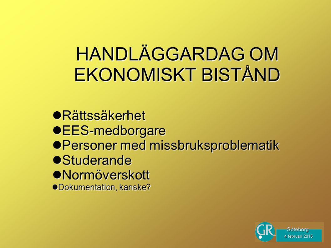 HANDLÄGGARDAG OM EKONOMISKT BISTÅND