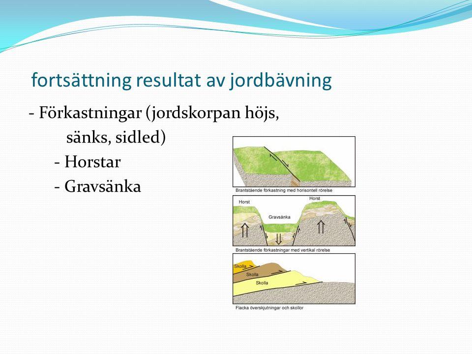 fortsättning resultat av jordbävning