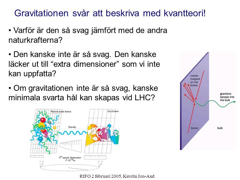 Gravitationen svår att beskriva med kvantteori!