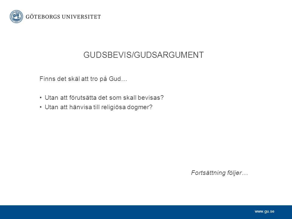 GUDSBEVIS/GUDSARGUMENT