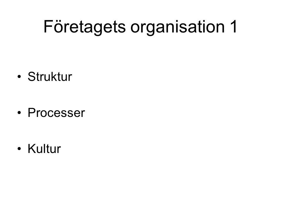 Företagets organisation 1