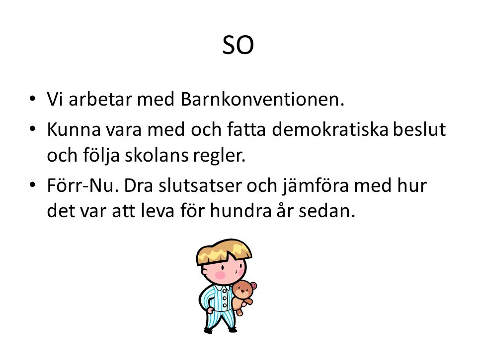 SO Vi arbetar med Barnkonventionen.