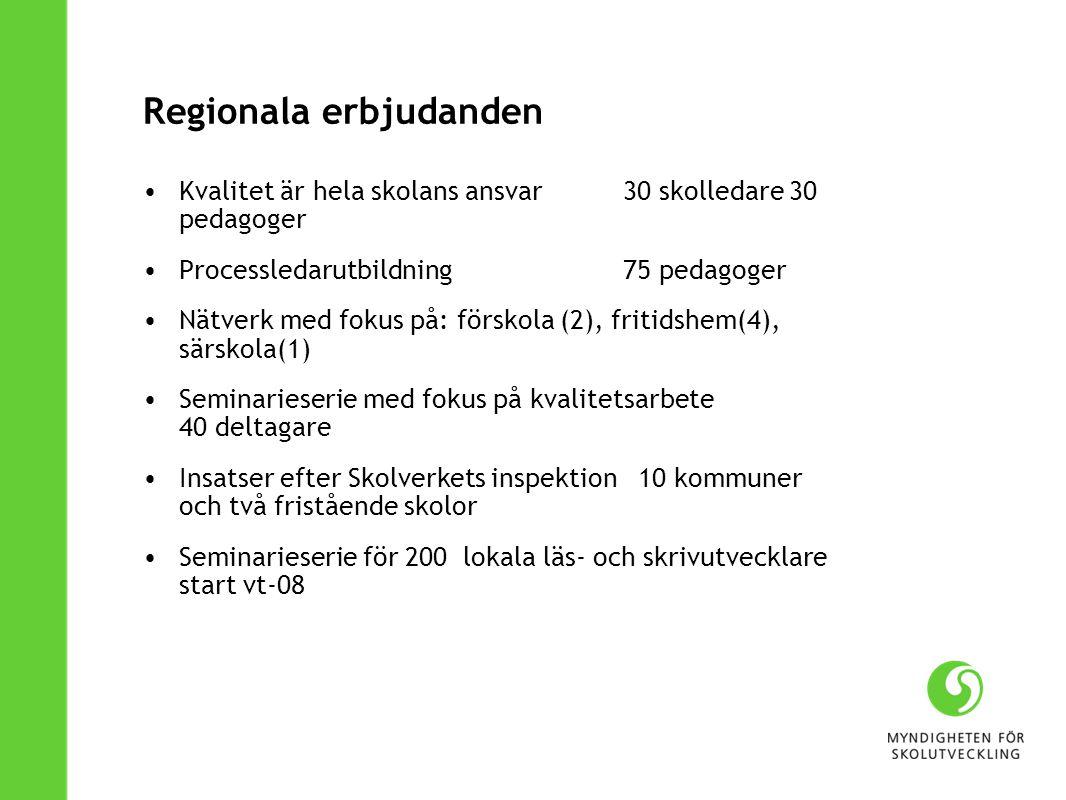 Regionala erbjudanden
