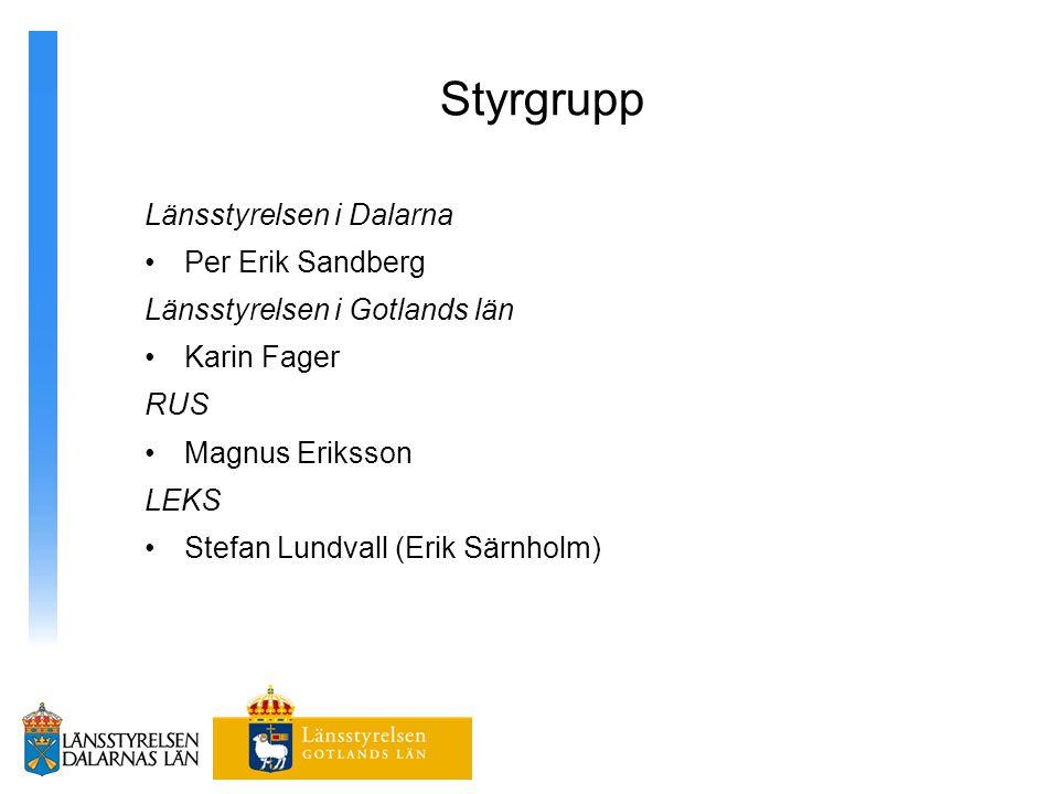 Styrgrupp Länsstyrelsen i Dalarna Per Erik Sandberg