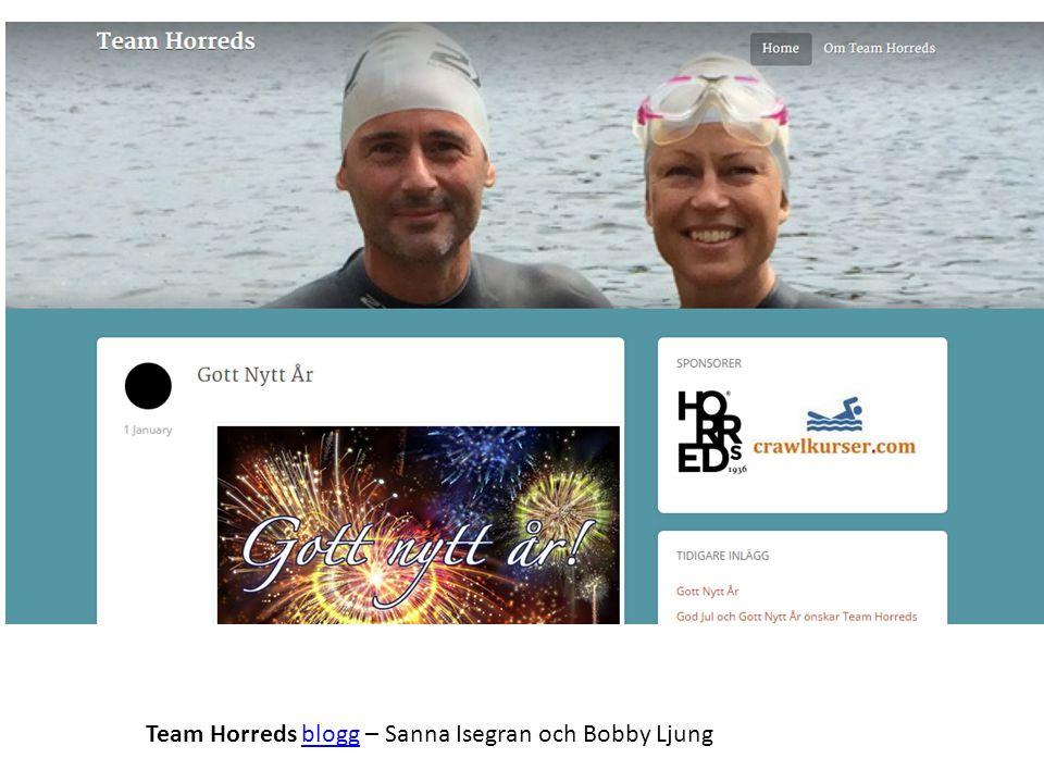Team Horreds blogg – Sanna Isegran och Bobby Ljung