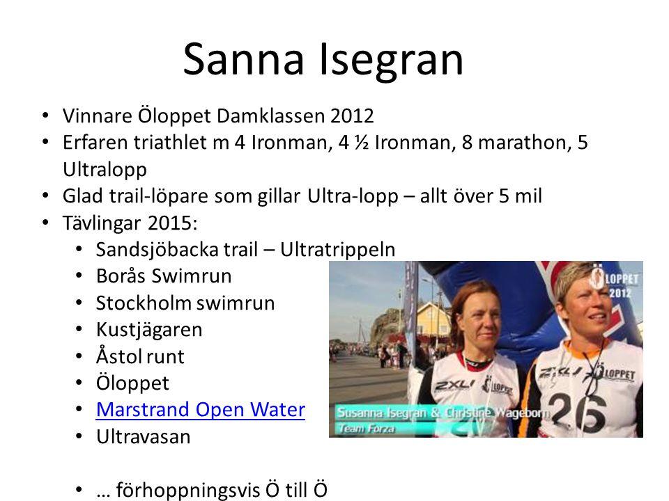 Sanna Isegran Vinnare Öloppet Damklassen 2012