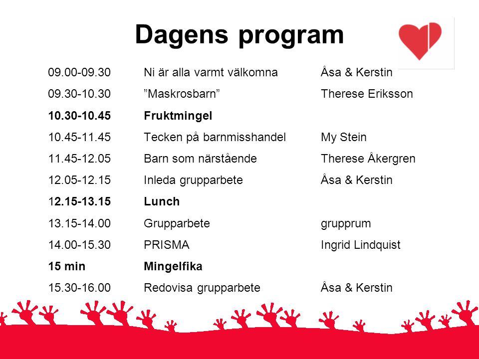 Dagens program 09.00-09.30 Ni är alla varmt välkomna Åsa & Kerstin