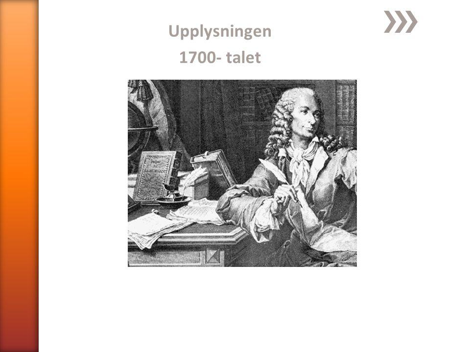 Upplysningen 1700- talet