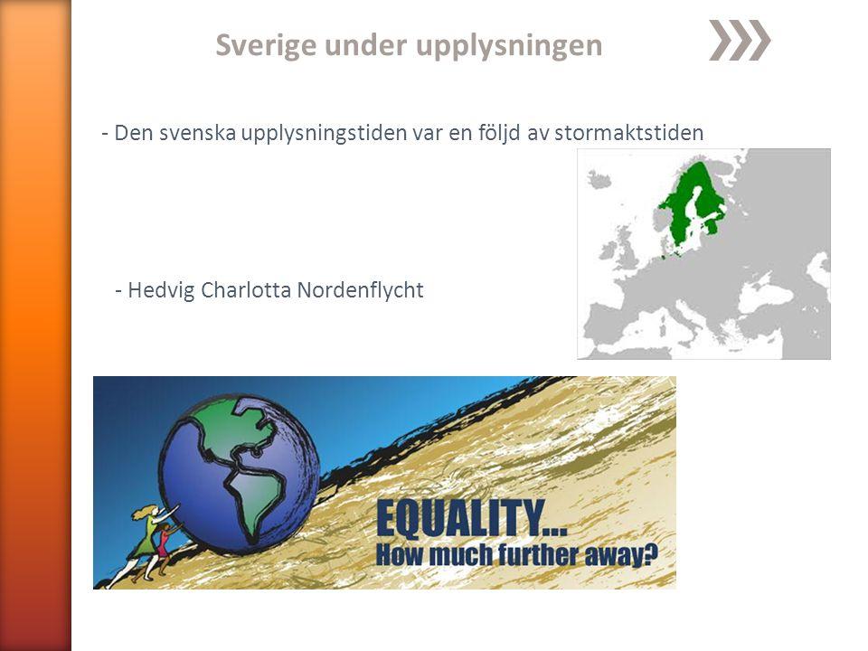 Sverige under upplysningen