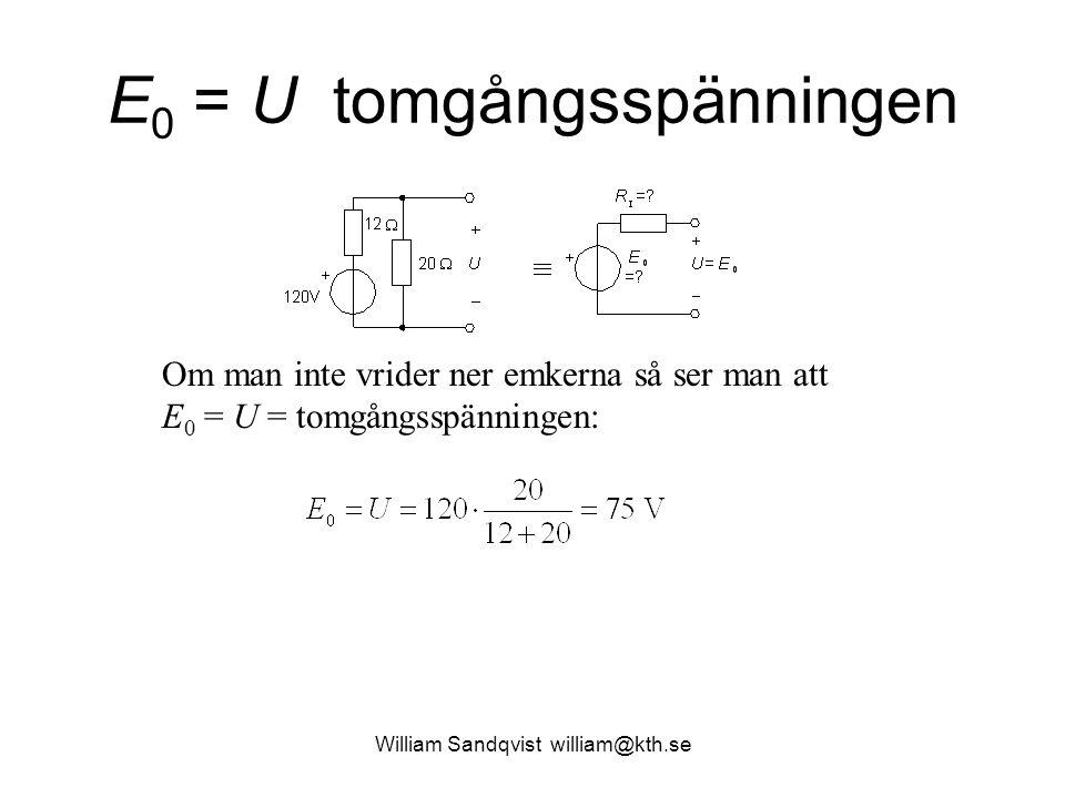 E0 = U tomgångsspänningen