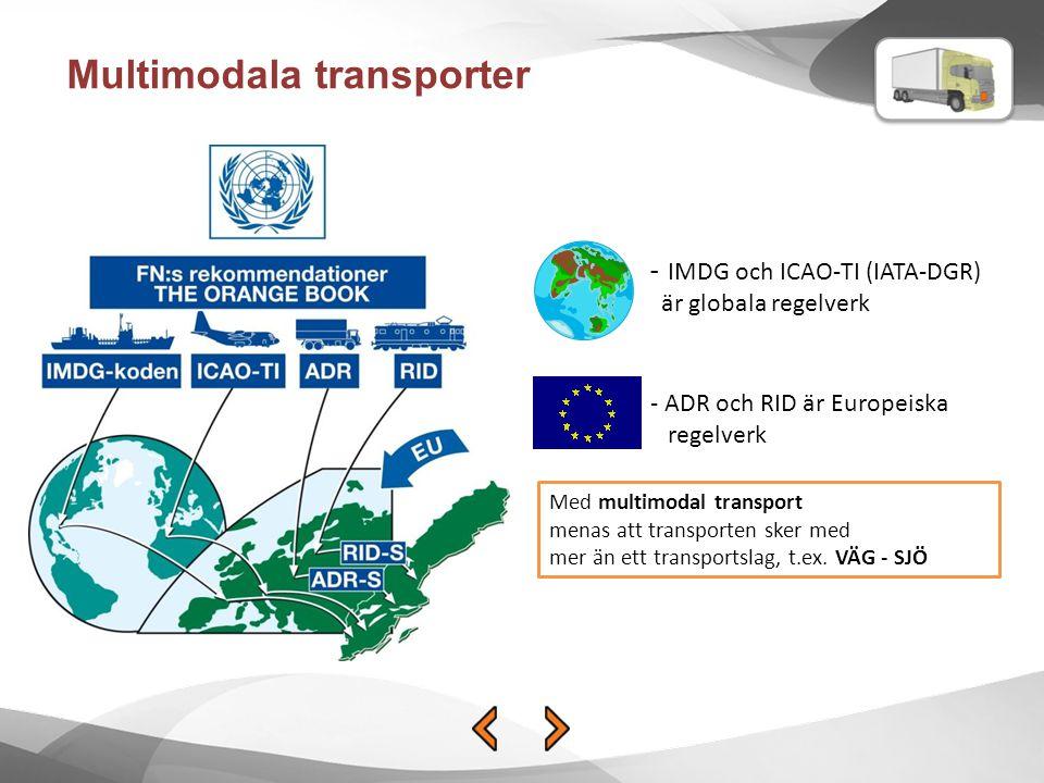 Multimodala transporter