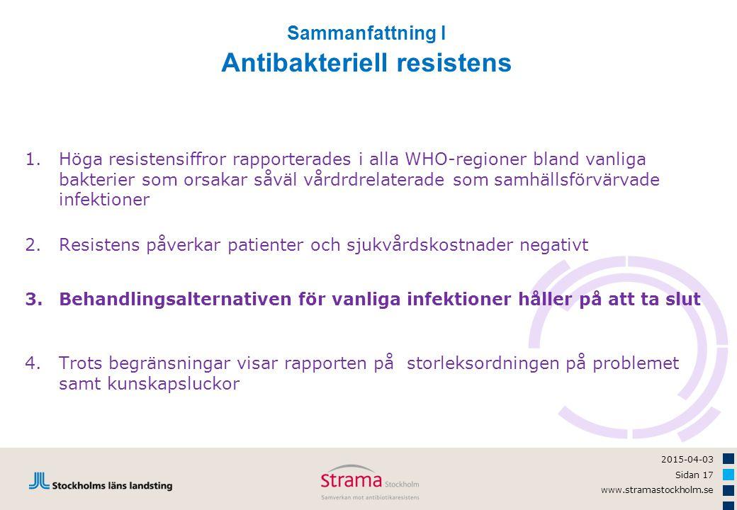 Antibakteriell resistens
