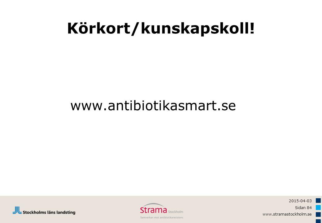 Körkort/kunskapskoll!