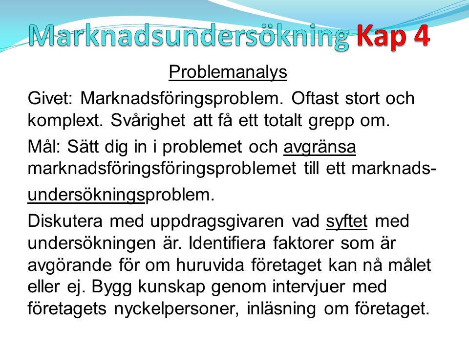 Marknadsundersökning Kap 4