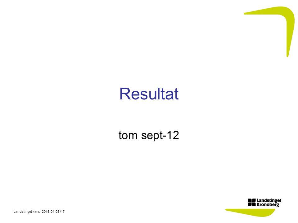 Resultat tom sept-12