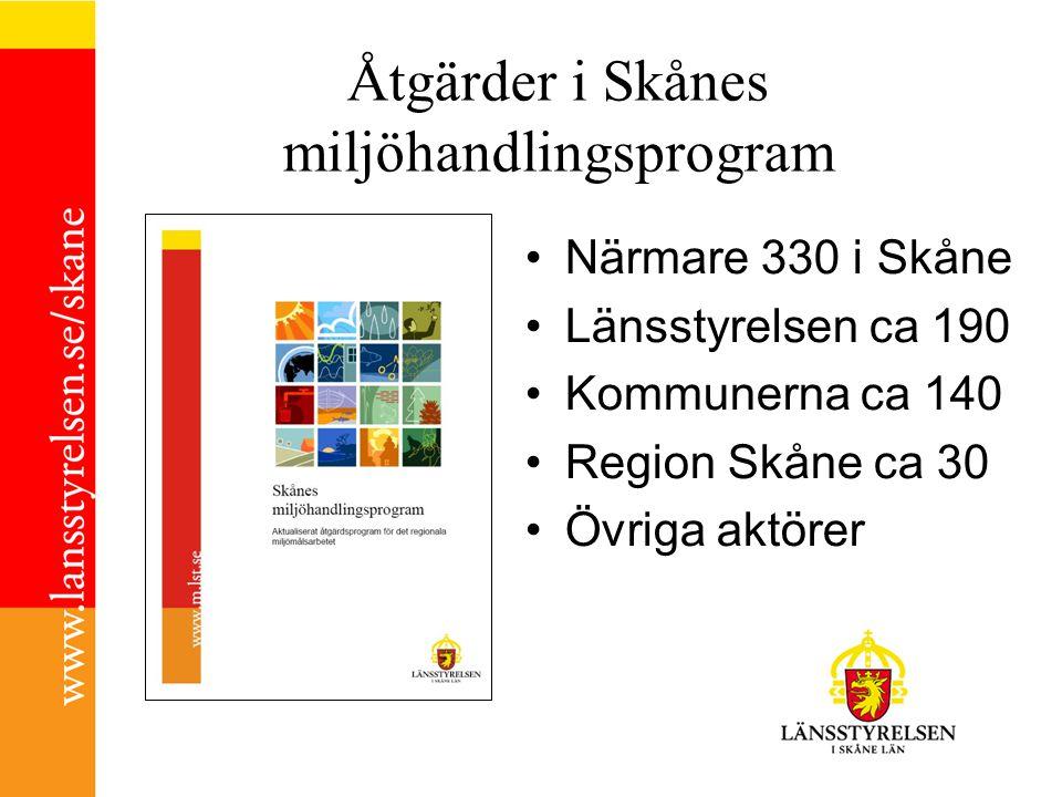 Åtgärder i Skånes miljöhandlingsprogram