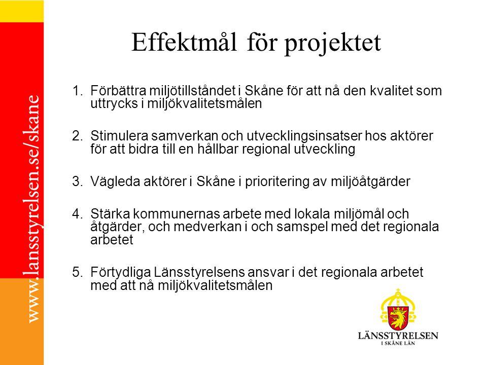 Effektmål för projektet
