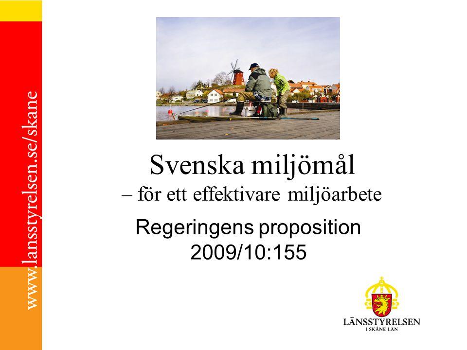 Svenska miljömål – för ett effektivare miljöarbete