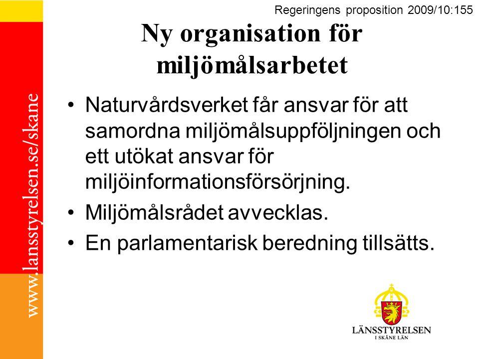 Ny organisation för miljömålsarbetet