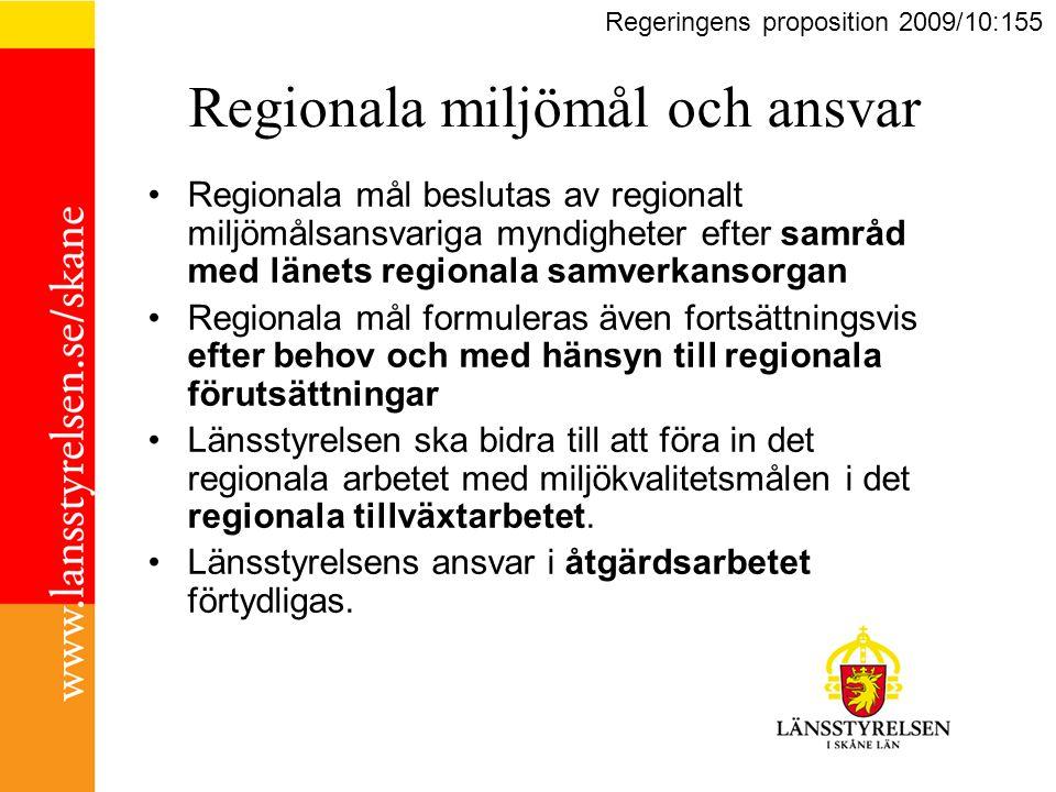 Regionala miljömål och ansvar