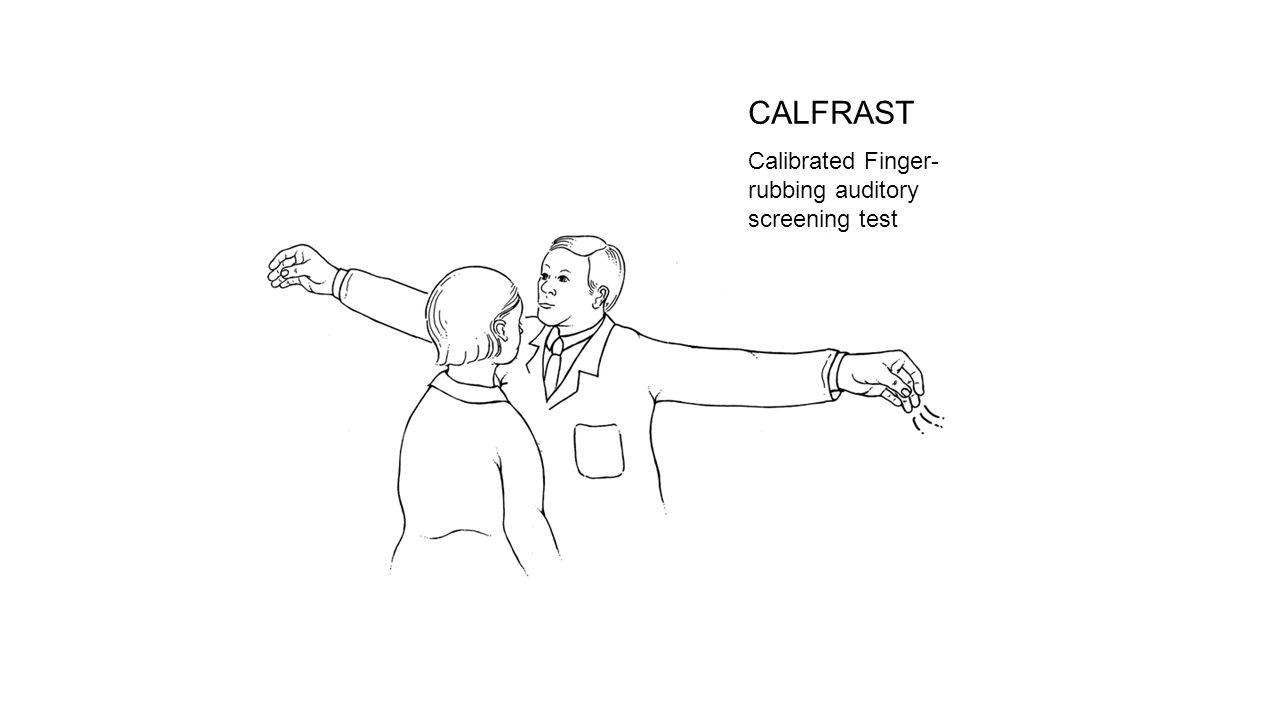 CALFRAST Calibrated Finger-rubbing auditory screening test 6