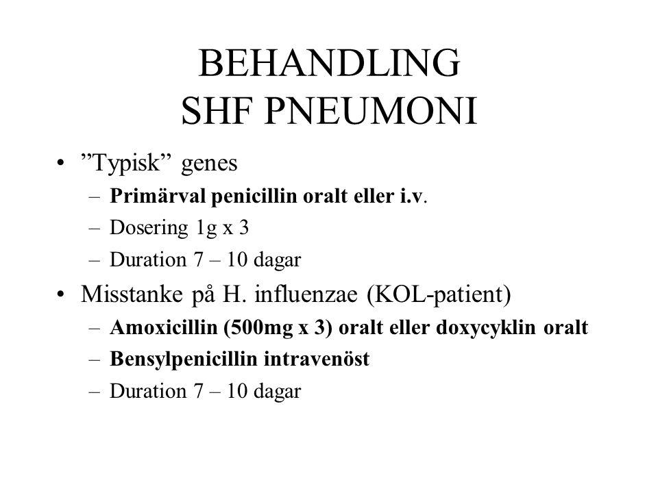 BEHANDLING SHF PNEUMONI