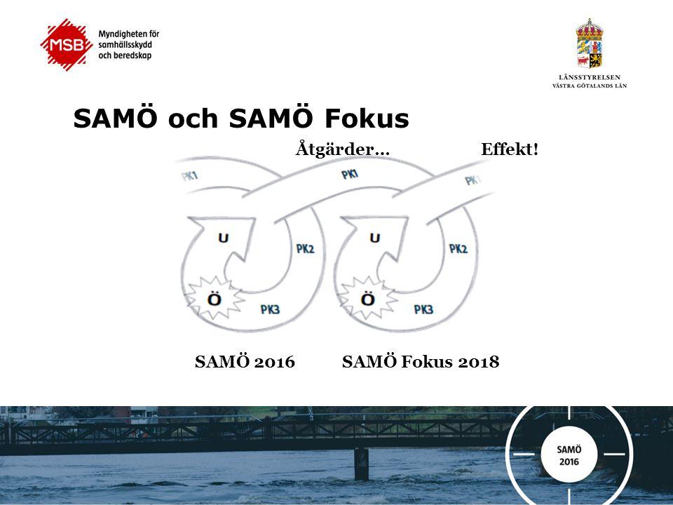 SAMÖ och SAMÖ Fokus Åtgärder… Effekt! SAMÖ 2016 SAMÖ Fokus 2018