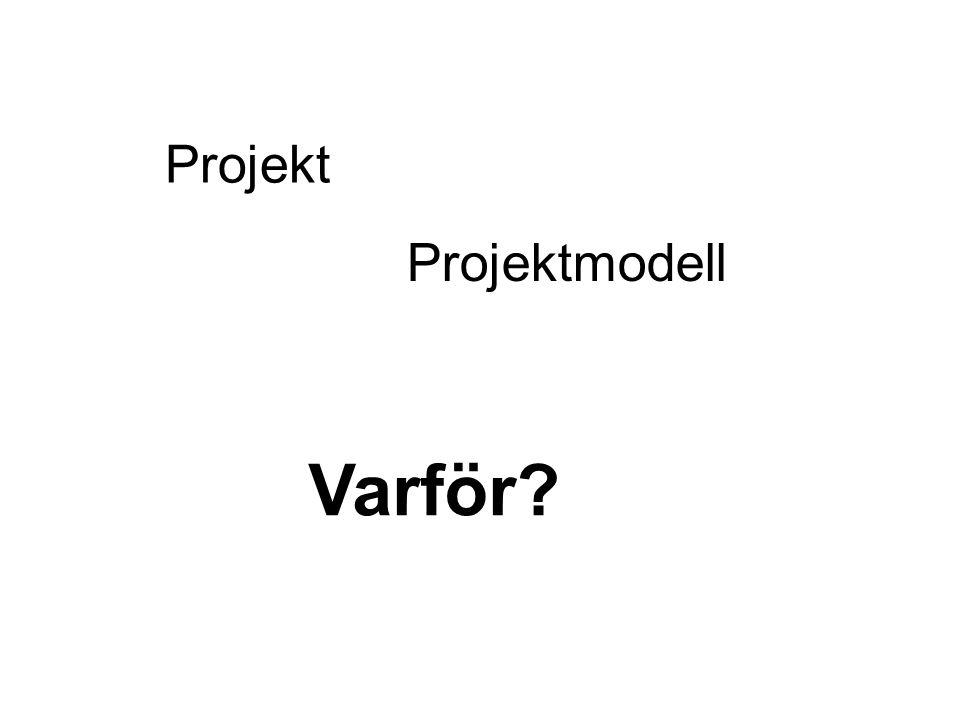 Projekt Projektmodell Varför