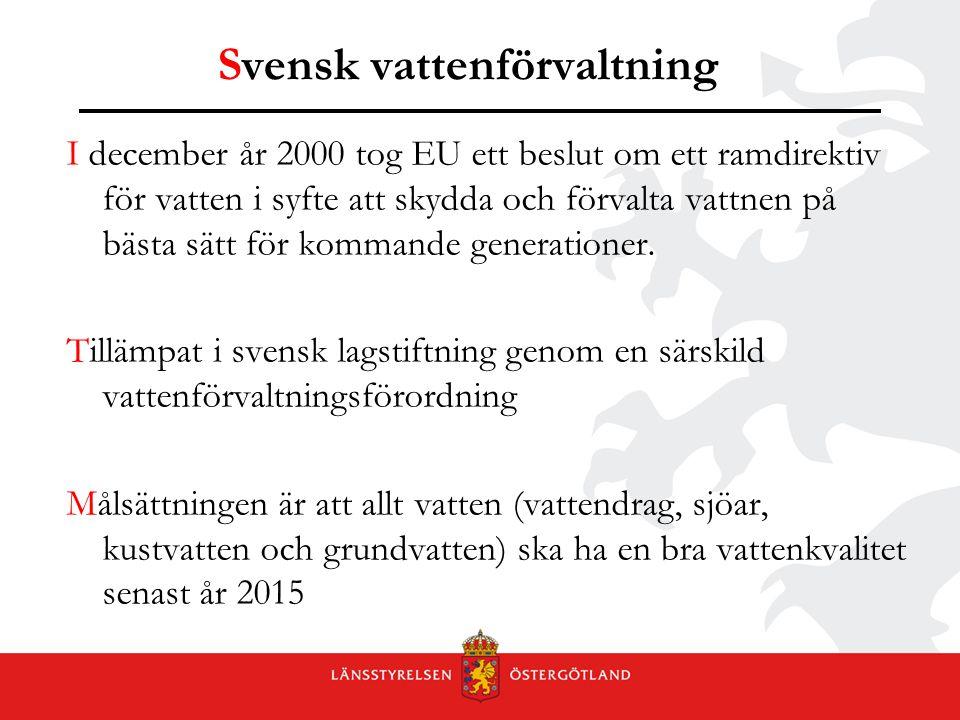 Svensk vattenförvaltning